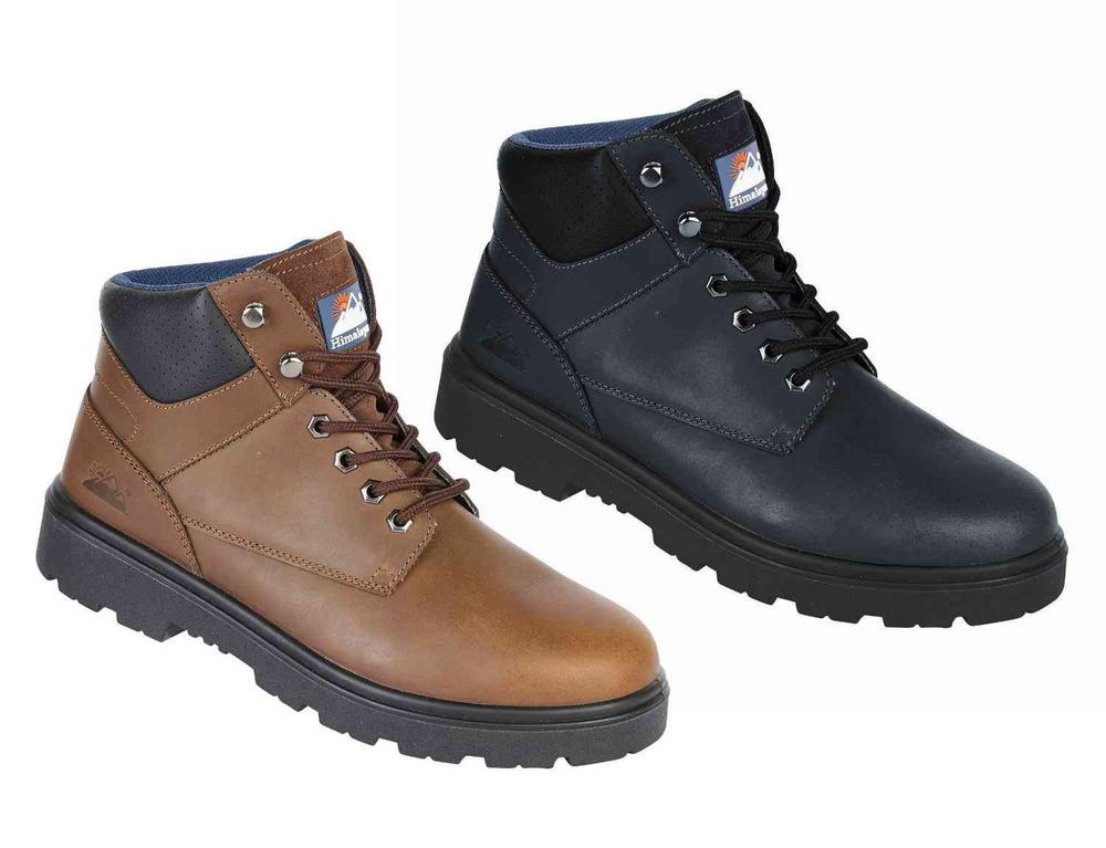 Himalayan Black Leather Safety Boot with Dual Density Sole & Midsole S3