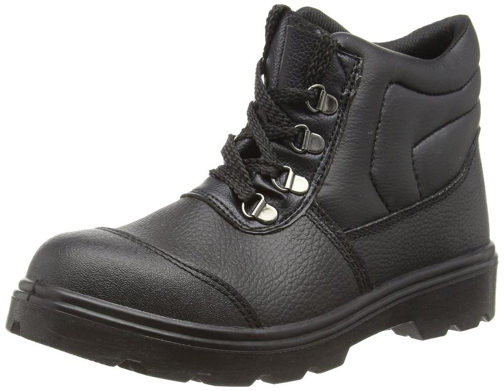Himalayan Black Dual Density PU Boot 2417 Scuff Cap and Steel Midsole