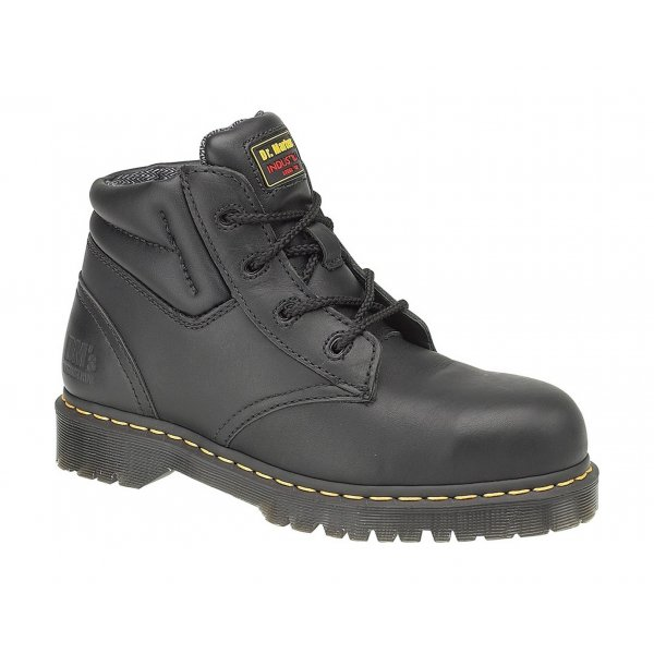 fcc185433085f Dr Martens Icon Black Leather/ Suede Safety Boot with SAF Sole