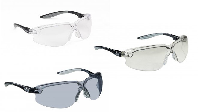 Bolle 180 Degrees Viewing Axis Safety Wraparound Glasses - various shades