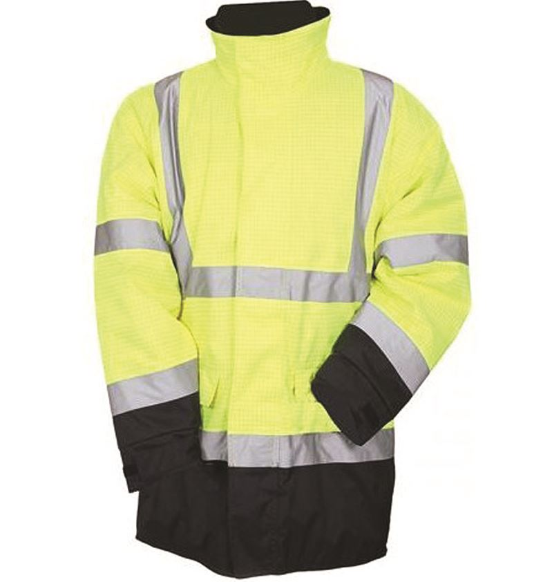 Eurox Aqua Hi Vis Waterproof Rain Jacket Flame Retardant Antistatic Parka With Removable Quilted Lining Jk267-000-2