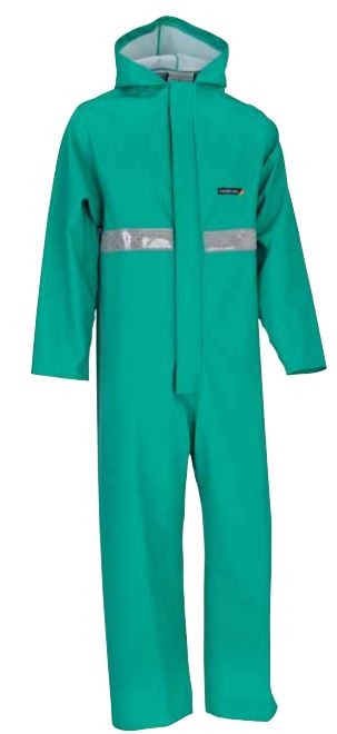 Alpha Solway Slickersuit Chemical Resistant Green Coverall
