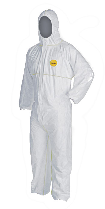 DuPont Tyvek Coverall Disposable White DuPont Tyvek Easysafe Type 5/6 Cat 3
