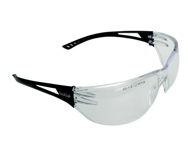 Bolle Modern & Stylish All-round Vision Slam Safety Glasses - Clear