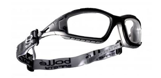 Bolle Neck Cord & Cleaning Pouch with Tracker II 2 Safety Glasses - Clear