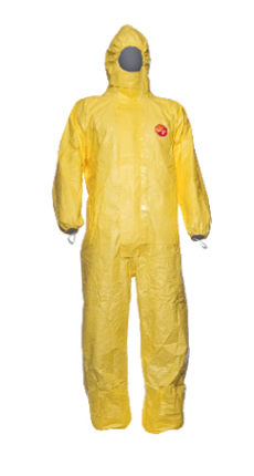 DuPont Tychem C Coverall Yellow Hooded Over-taped Seams Cha5