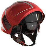 Bullard Magma® Type B Lightweight Shell Fire Helmet Platform - Red