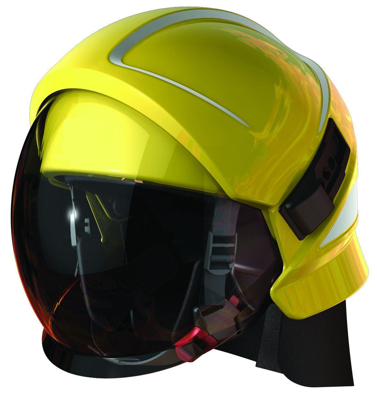 Bullard Magma 174 Fire Helmet Platform Yellow