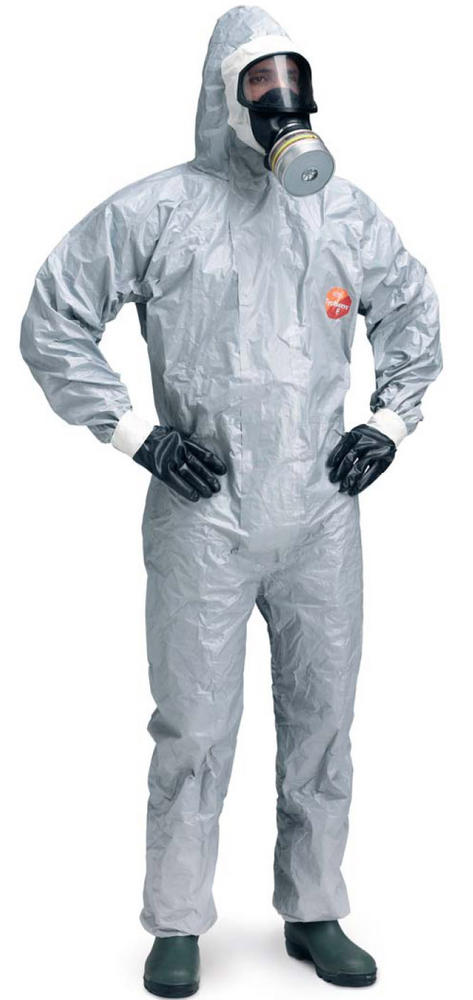 DuPont Tychem F Coverall Grey Chemical Suit Tyf Cha5 T Gy 00 Pack of 5