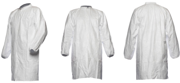 DuPont Tyvek Disposable Coat Lab White No Pockets Pl30Np (Pack of 5)