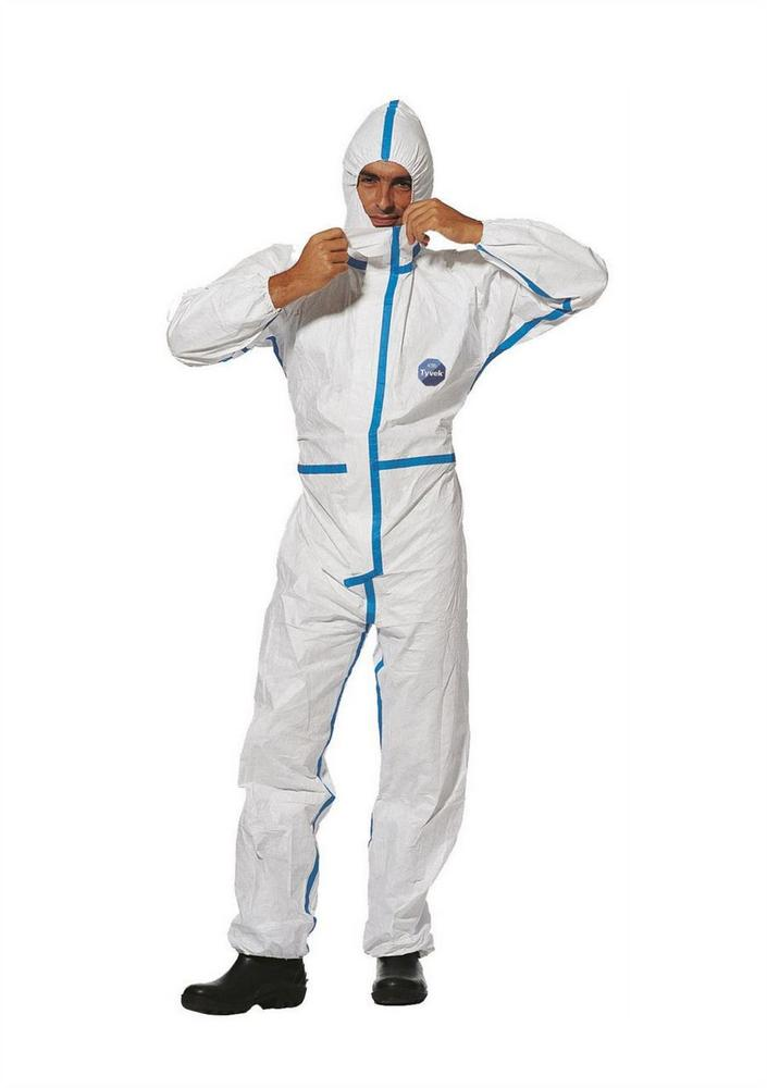 DuPont Tyvek Classic Plus Tyv Disposible Coverall White Cha5T Wh 00 (Pack of 5)