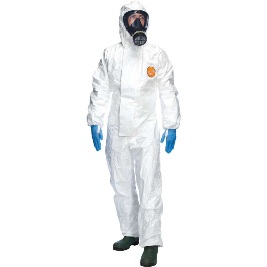 DuPont Tychem 4000 S Hooded Coverall White Sl Chz5 T Wh 00 (Pack of 5)