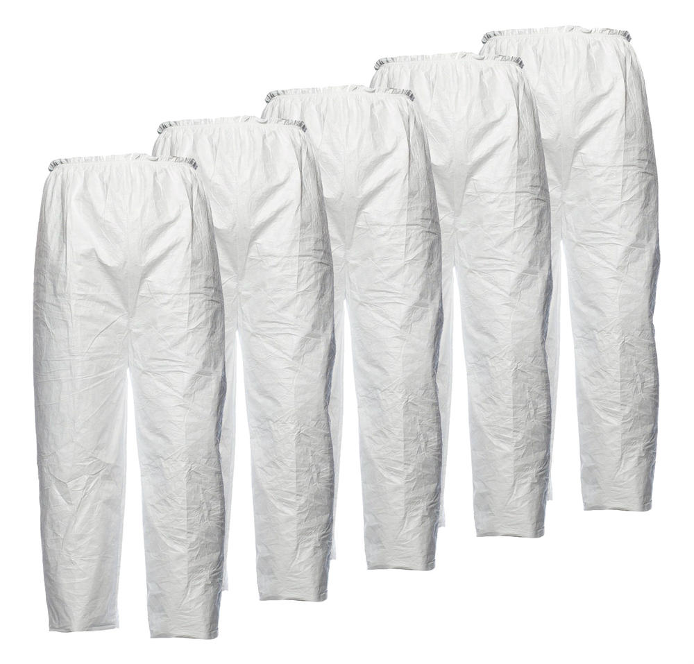 DuPont PT31LO Tyvek Disposable Trouser Without Pockets White, Pack of 5 Disposable Trousers