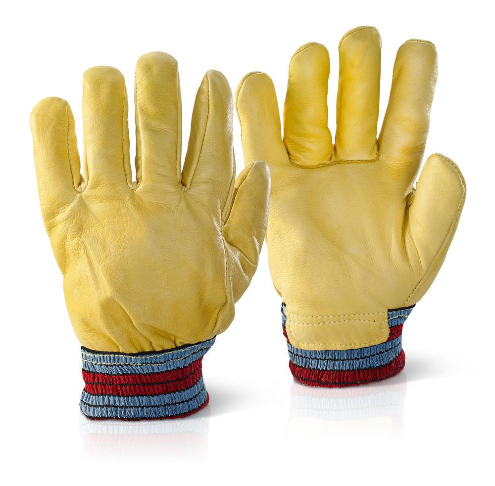Beeswift Fgimp Freezer Glove Yellow Fleece Lined Knit Wrist