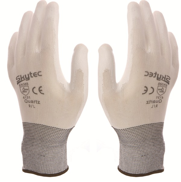 Skytec Quartz Glove White Pu Coated Palm 4.1.3.1