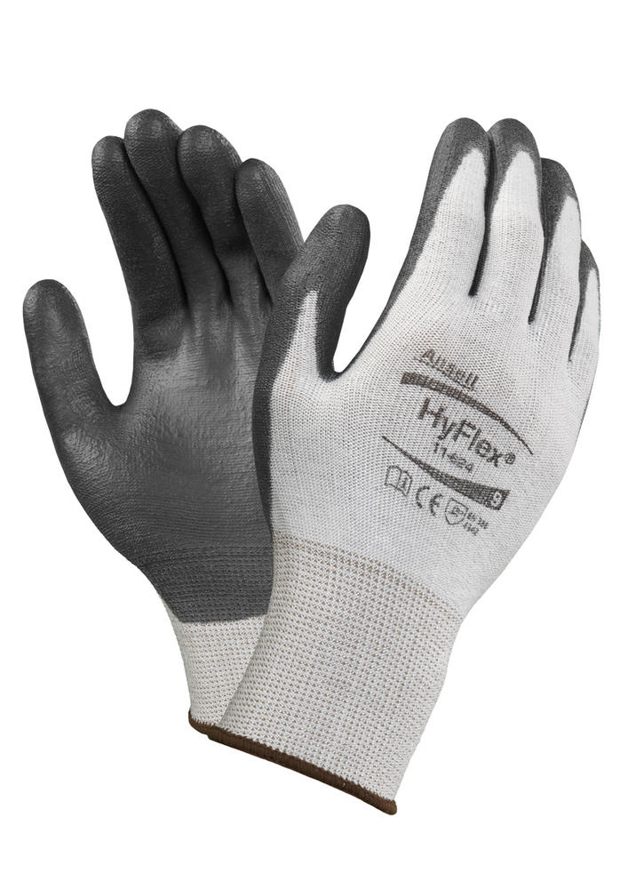 Ansell Hyflex 11-624 White BlackDyneema Cut Protection Work Glove