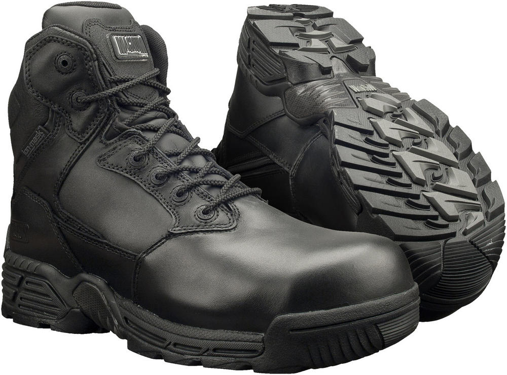 Magnum Stealth Force 6.0 Ct/Cp Sz Wpi Side Zip Black Boot