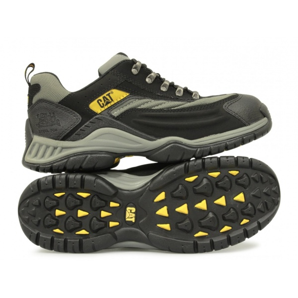 11ac544d399 Caterpillar MOOR Unisex SB HRO Steel Toe Trainers Grey/Black