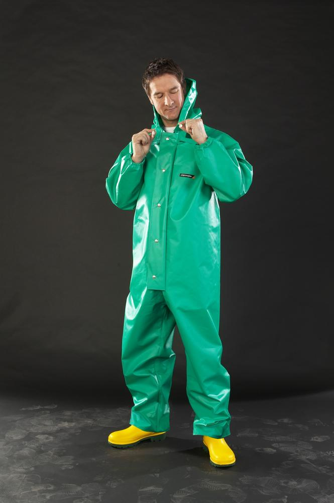 Alpha Solway Chemmaster Re-useable Chemical Coverall Green Pvc/Nylon - Cmbh-Ew