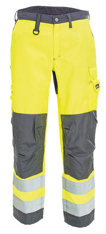 Tranemo Cargo Kneepad Hi Vis Trousers Hi Vis Yellow/Grey 4820 44 92 Ce-Me