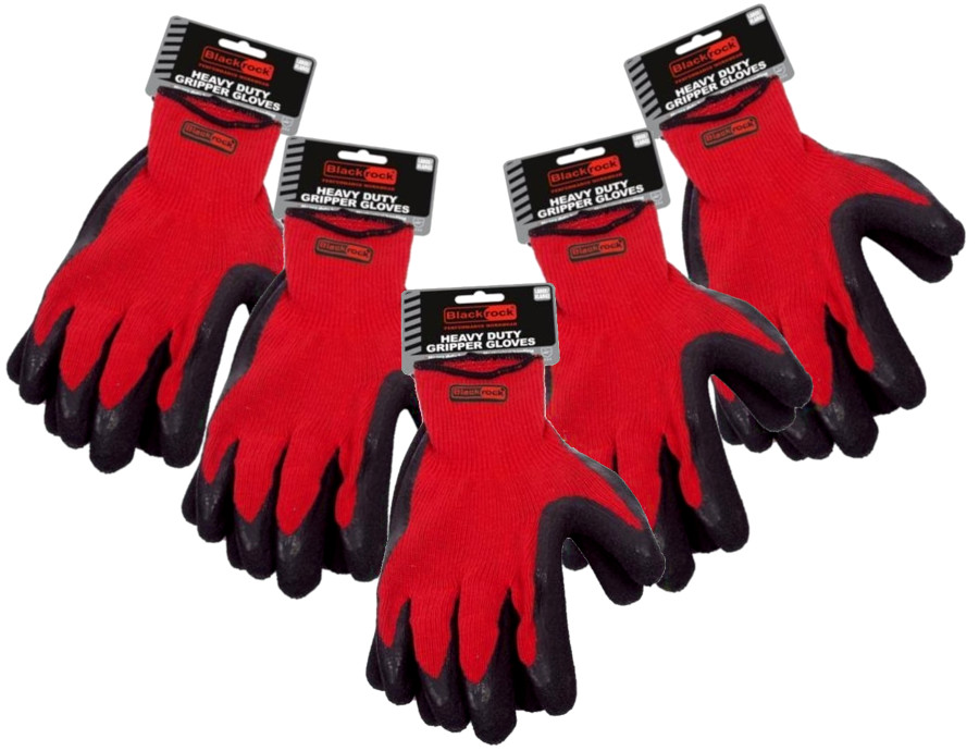 Blackrock BR1412A10 Heavy Duty Gripper Gloves (Pack of 5)
