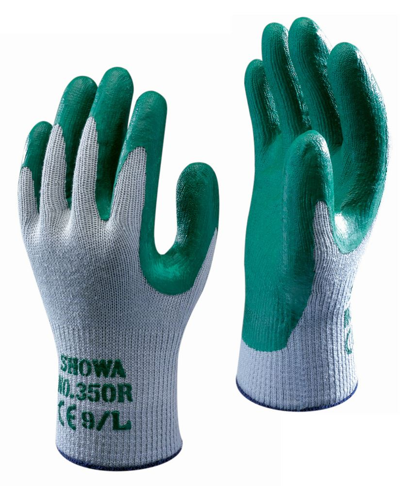 Showa 350R Nitrile Grip Gardening Gloves (Pack of 10)