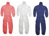 Polypropylene Disposable Coveralls GD4 White, Red or Blue (Pack of 10)