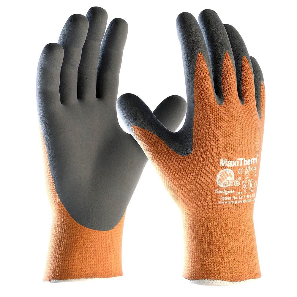ATG MaxiTherm Latex Palm Coated 30-201 Gloves Insulated Non-Slip Grip (Pack - 6)