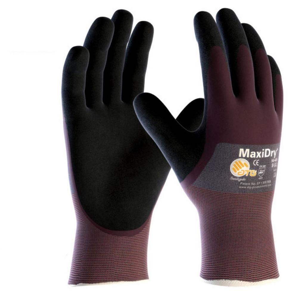 ATG MaxiDry 3/4 Coated 56-425 Gloves Non-slip Grip (Pack of 10)