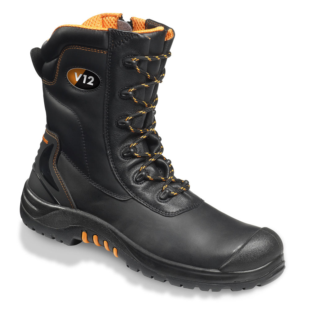 65fbc0e6fe5 V12 Leopard II Side Zip High Leg S3 Safety Boot (VR695)