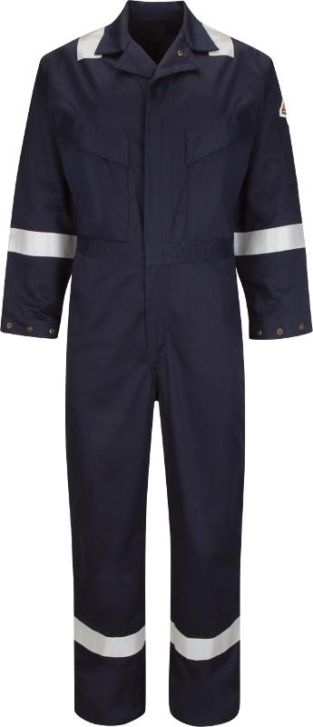 Bulwark Hi Vis Flame Resistant Anti-static 350Gsm Work FR Coverall Deluxe (CAD6) Navy