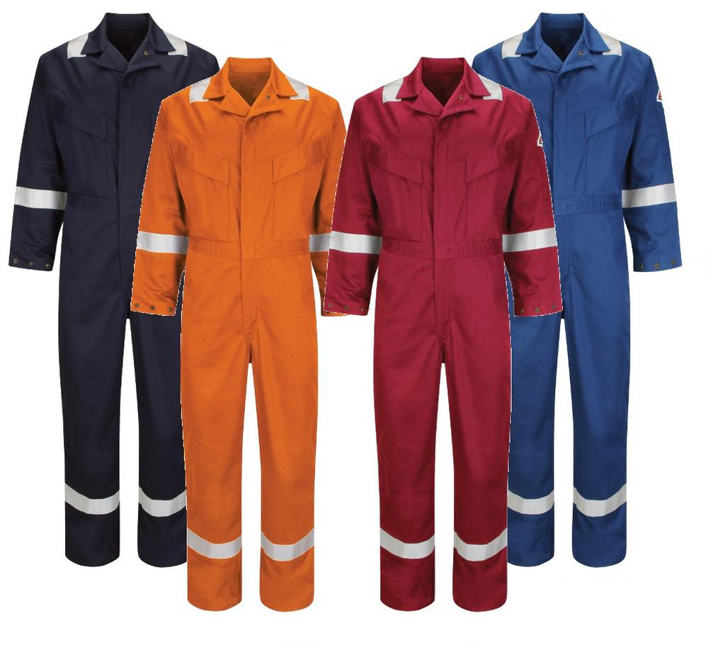 Bulwark Hi Vis Flame Resistant Anti-static 350Gsm Work FR Coverall Deluxe (CAD6)