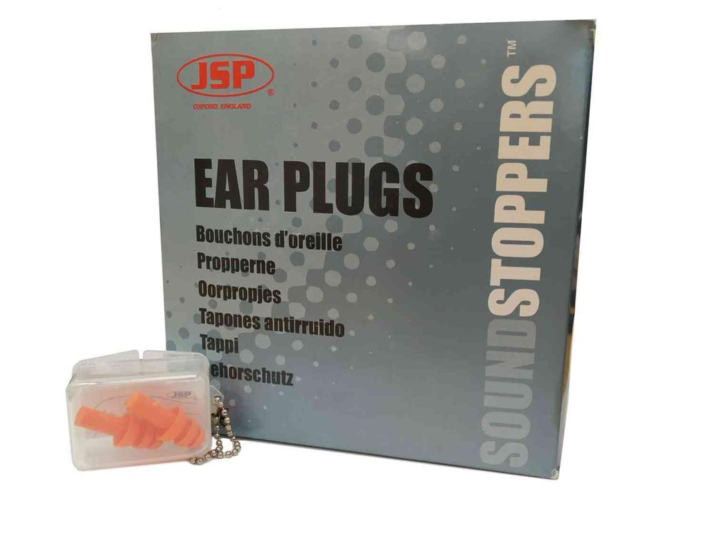 JSP MegaPlug Reusable Ear Plugs SNR 26dB 60 Pairs Box