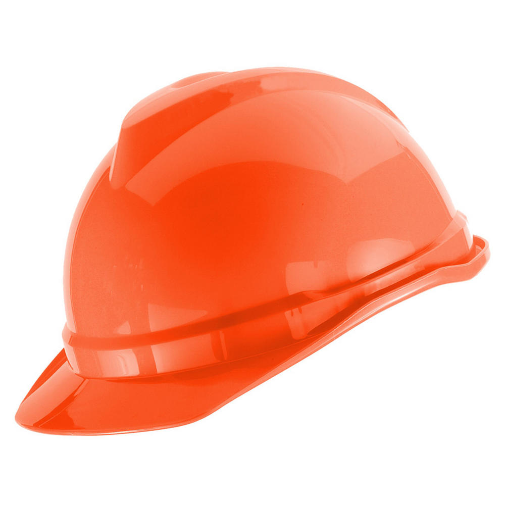 MSA Staz-On Vgard 500 Orange Non Vented Staz-On Suspension ABS Shell Helmet
