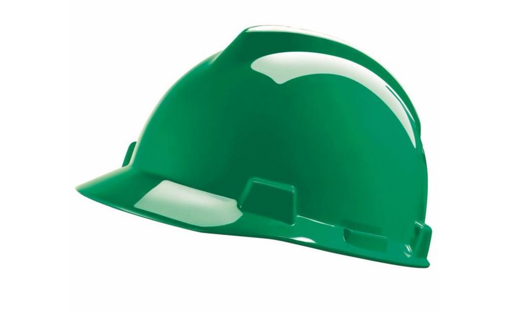 MSA Vgard GV141 Green Helmet With Staz-On Insert