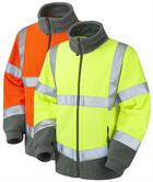 Leo Workwear Hartland F01 Hi Vis Fleece Jacket