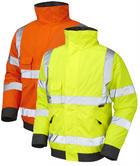 Leo Workwear Chivenor Iso 20471 Hi-Vis Bomber Jacket