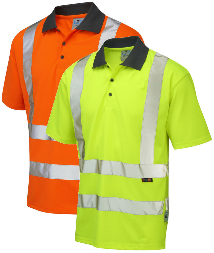 Leo Workwear Rockham Hi Vis Coolviz Polo Shirt