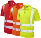 Leo Workwear Broadsands Segmented Tape Hi Vis Coolviz Ultra Polo Shirt