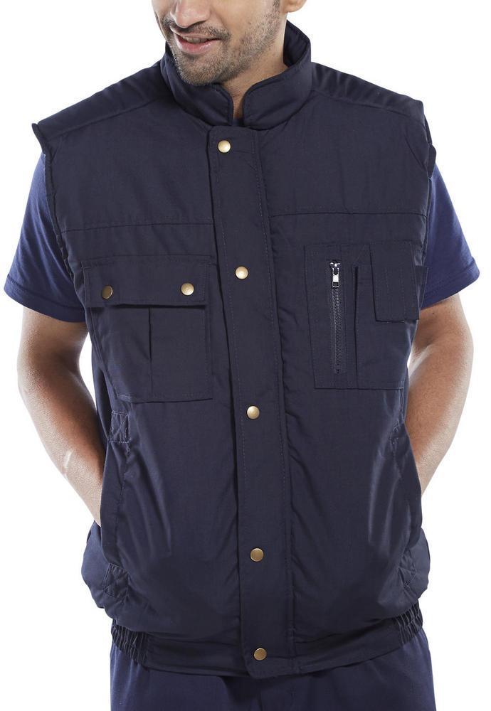 Click Workwear Padded Navy Bodywarmer Hudson Hb
