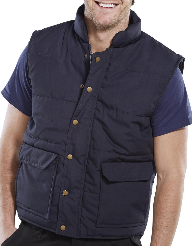 Click Workwear Quebec Padded Quilted Polycotton Navy Bodywarmer