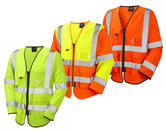 Leo Workwear Wrafton S12 Hi-Vis Knitted Polyester Superior Sleeved Waistcoat