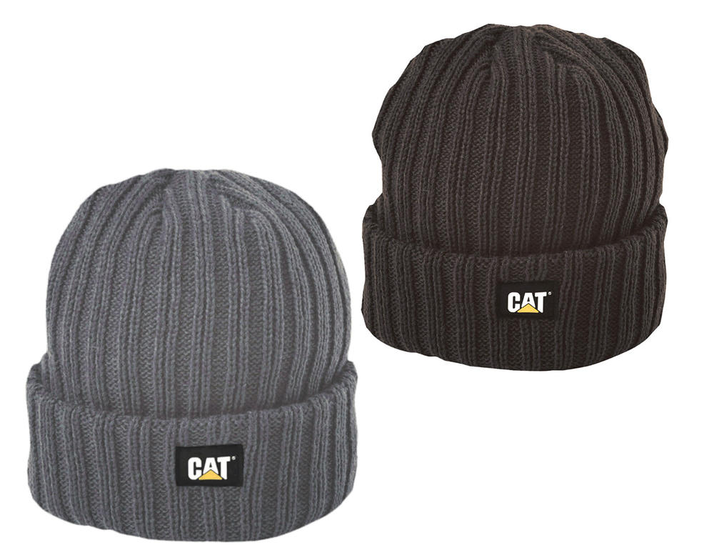 Caterpillar Cat C443 100% acrylic Rib Watch Beanie Cap