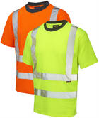Leo Workwear Newport High Visibility Polycotton T-Shirt