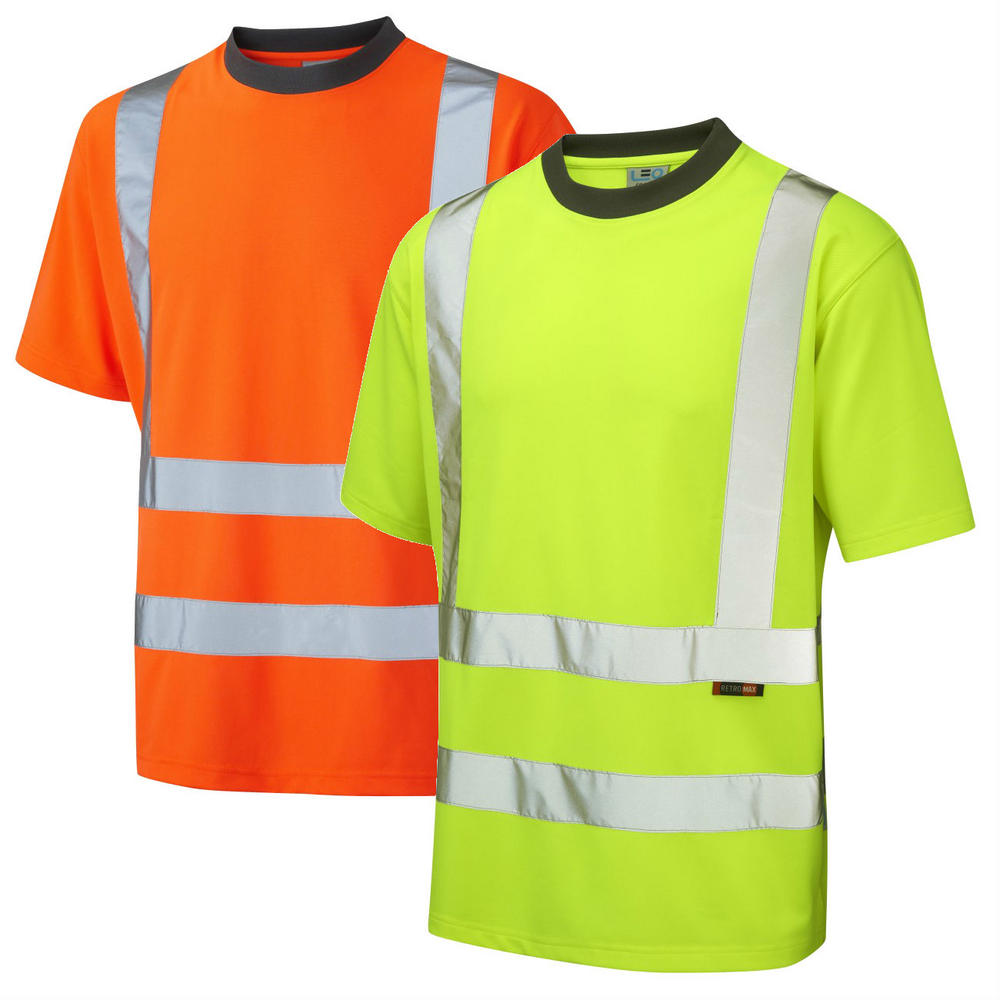 Leo Workwear Braunton High Visibility Coolviz T-Shirt