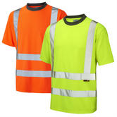 Leo Workwear Braunton High Visibility Coolviz T-Shirt