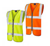 Leo Workwear Rumsam High Visibility Waistcoat Zip & Id Pocket