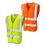 Leo Workwear Arlington Hi-Vis Yellow Coolviz Waistcoat
