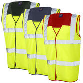 Leo Workwear Bradworthy High Visibility Multi Coloured Yoke Waistcoat
