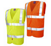 Leo Workwear Clifton Hi-Vis Anti-Static & Flame Retardant Lfs Waistcoat